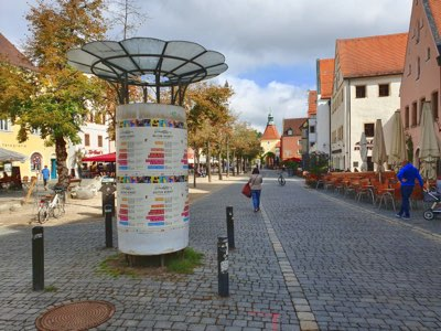 städt. Litfaßsäule - Marktplatz  Am Alten Rathaus   2.20/3.6