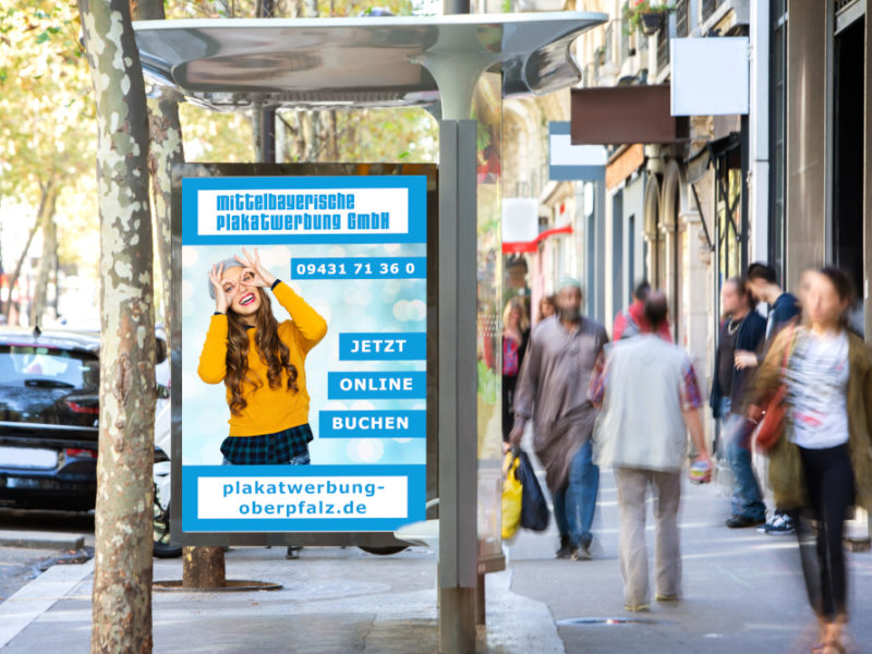 View of a Mock up of an Outdoor Billboard Advertisement